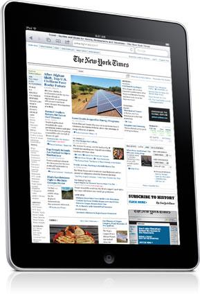 Apple iPad jako čtečka novin